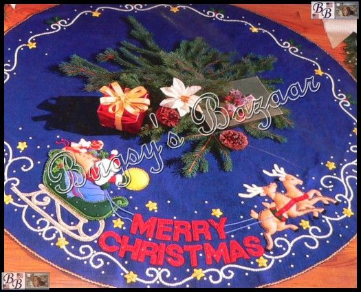 Bucilla MERRY CHRISTMAS Santa Tree Skirt Felt Kit